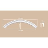 Радиус [1/4 круга] Decomaster 897164-90 (Rнар. 500 | Rвн. 450)